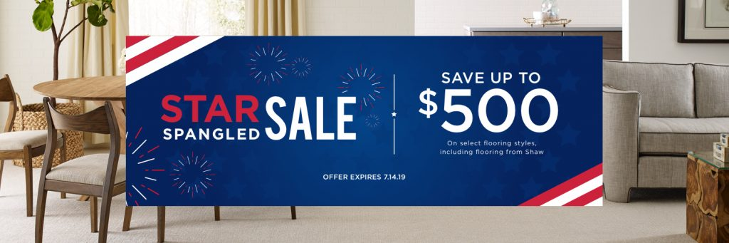 Star Spangled Banner Sale | Gregory's Paint and Flooring