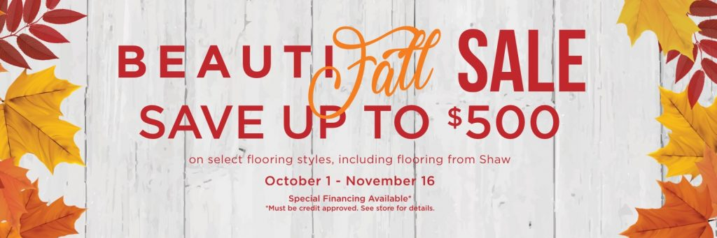 BeautiFALL Sale | Gregory's Paint and Flooring