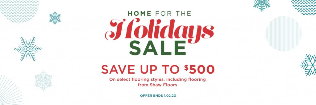 Home for the Holidays Sale   Gregory's Paint and Flooring