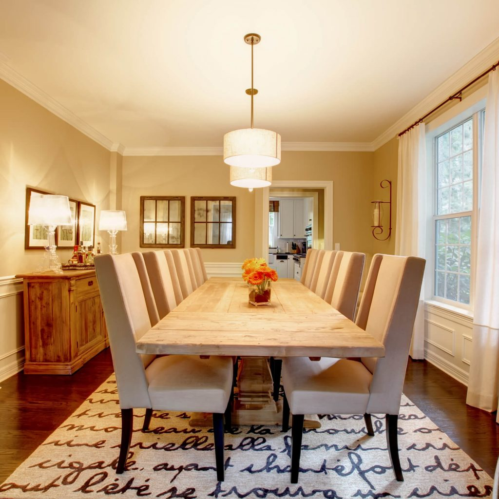 Choosing the Best Rug for Your Dining Room | Gregory's Paint and Flooring